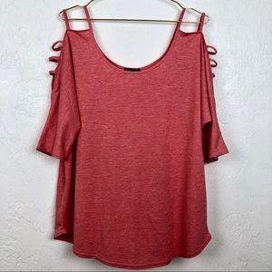 Venus Open Shoulder Ladder Sleeve T-shirt
